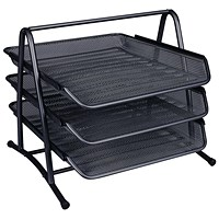 Q-Connect 3-Tier Letter Tray - Black