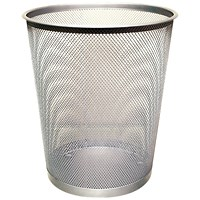 Q-Connect Waste Basket Mesh 18 Litre Silver