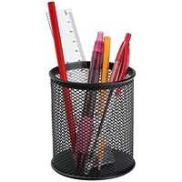 Q-Connect Mesh Pen Pot - Black