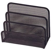 Q-Connect Mesh Letter Sorter - Black