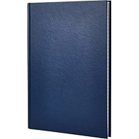 Q-Connect Manuscript Book, Blue, A6, Ruled Feint, 96 Pages