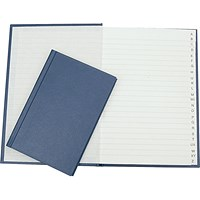 Q-Connect Manuscript Book, Blue, A4, Indexed, 96 Pages