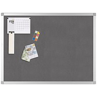 Q-Connect Noticeboard, Aluminium Trim, W1200xH900mm, Grey