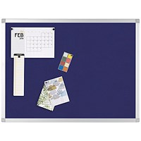 Q-Connect Noticeboard, Aluminium Trim, W900xH600mm, Blue