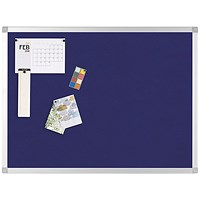 Q-Connect Noticeboard, Aluminium Trim, W1200xH900mm, Blue