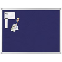 Q-Connect Noticeboard, Aluminium Trim, W1800xH1200mm, Blue