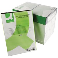 Q-Connect A4 Copier Paper, White, 80gsm, Box (5 x 500 Sheets)