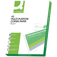 Q-Connect Copier A3 Paper White, 80gsm, Ream (500 Sheets)