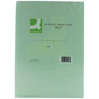 Q-Connect Coloured Paper - Pastel Green, A4, 80gsm, Ream (500 Sheets)