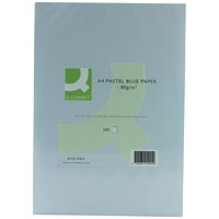 Q-Connect Coloured Paper - Pastel Blue, A4, 80gsm, Ream (500 Sheets)