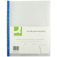 Q-Connect A4 Deluxe Punched Pockets, Pack of 25
