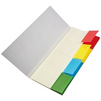 Q-Connect Quick Tabs 25 x 45mm Transparent Assorted (Pack of 200) KF01225
