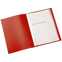 Q-Connect Display Book, 20 Pockets, Red