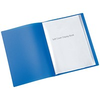 Q-Connect Display Book, 20 Pockets, Blue