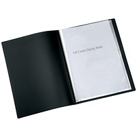 Q-Connect Display Book, 20 Pockets, Black