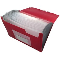Q-Connect Expanding File, 13 Pockets, Red
