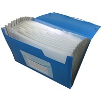 Q-Connect Expanding File, 13 Pockets, Blue