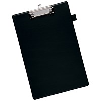 Q-Connect Clipboard, PVC, Foolscap, Black