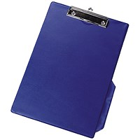 Q-Connect Clipboard, PVC, Foolscap, Blue