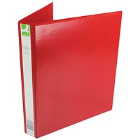 Q-Connect Presentation Binder, A4, 4 D-Ring, 25mm Capacity, Red