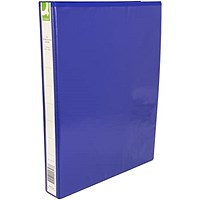 Q-Connect Presentation Binder, A4, 4 D-Ring, 25mm Capacity, Blue