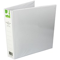 Q-Connect Presentation Binder, A4, 4 D-Ring, 40mm Capacity, White, Pack of 6