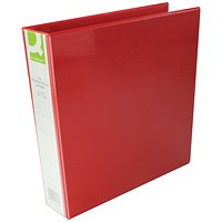 Q-Connect Presentation Binder, A4, 4 D-Ring, 40mm Capacity, Red