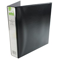 Q-Connect Presentation Binder, A4, 4 D-Ring, 40mm Capacity, Black