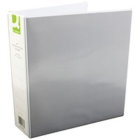 Q-Connect Presentation Binder, A4, 4 D-Ring, 50mm Capacity, White, Pack of 6