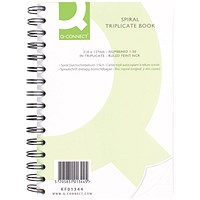 Q-Connect Wiro Bound Carbonless Triplicate Book - 232x127mm