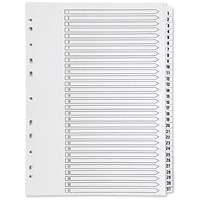 Q-Connect Plastic Index Dividers, 1-31, A4, White