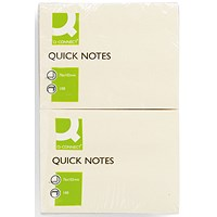 Q-Connect Quick Notes 76 x 102mm Yellow (Pack of 12) KF01410