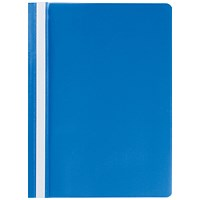 Q-Connect A4 Project Folders, Blue, Pack of 25