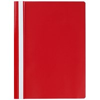 Q-Connect A4 Project Folders, Red, Pack of 25
