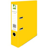 Q-Connect A4 Lever Arch Files, Yellow, Pack of 10