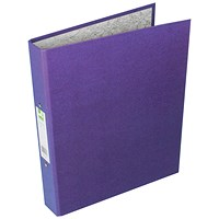 Q-Connect Ring Binder, A4, 2 O-Ring, 25mm Capacity, Purple, Pack of 10