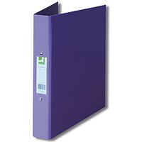 Q-Connect A4 Plastic Ring Binder, 2 O-Ring, 25mm Capacity, Purple, Pack of 10
