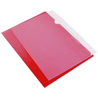 Q-Connect Cut Flush Folders, A4, Red, Pack of 100