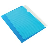 Q-Connect Cut Flush Folders, A4, Blue, Pack of 100