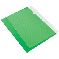Q-Connect Cut Flush Folders, A4, Green, Pack of 100