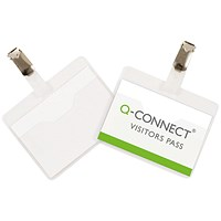 Q-Connect Visitor Badge, 90x60mm, Pack of 25