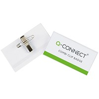 Q-Connect Combination Badge, 90x54mm, Pack 50