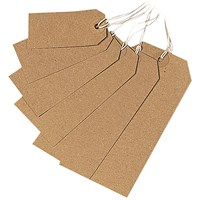 Strung Tag 70x35mm Buff (Pack of 1000) KF01596