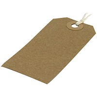 Strung Tag 82x41mm Buff (Pack of 1000) KF01597