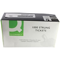 Strung Ticket 70x44mm White (Pack of 1000) KF01622