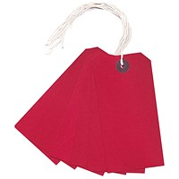 Strung Tag 120x60mm Red (Pack of 1000) KF01627