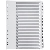 Q-Connect Index Dividers, 1-31, Clear Tabs, A4, White