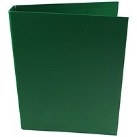 Q-Connect A4 Plastic Ring Binder, 2 O-Ring, 25mm Capacity, Green, Pack of 10