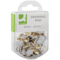 Q-Connect Drawing Pins White (Pack of 1200)