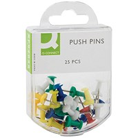Q-Connect Push Pins Assorted (Pack of 250)